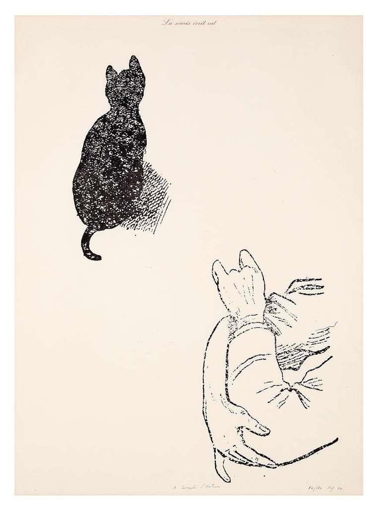 La Souris écrit rat (à compte d'auteur) by Broodthaers Marcel