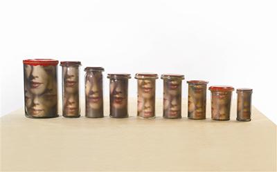 Pots avec visages by Broodthaers Marcel