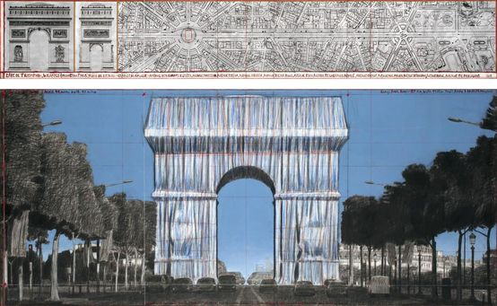 Christo & Jeanne Claude - Arc du Triopmhe Wrapped