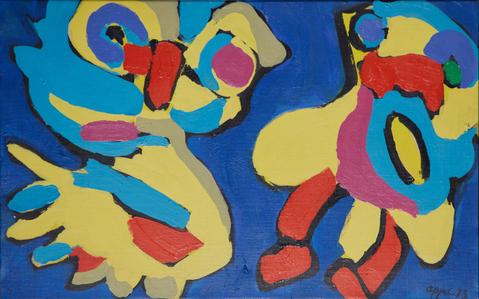 Bird and men by Appel Karel