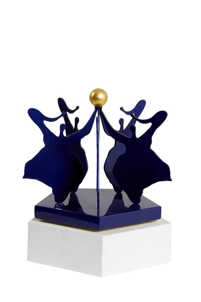 La danse blue base and gold ball by Rotraut