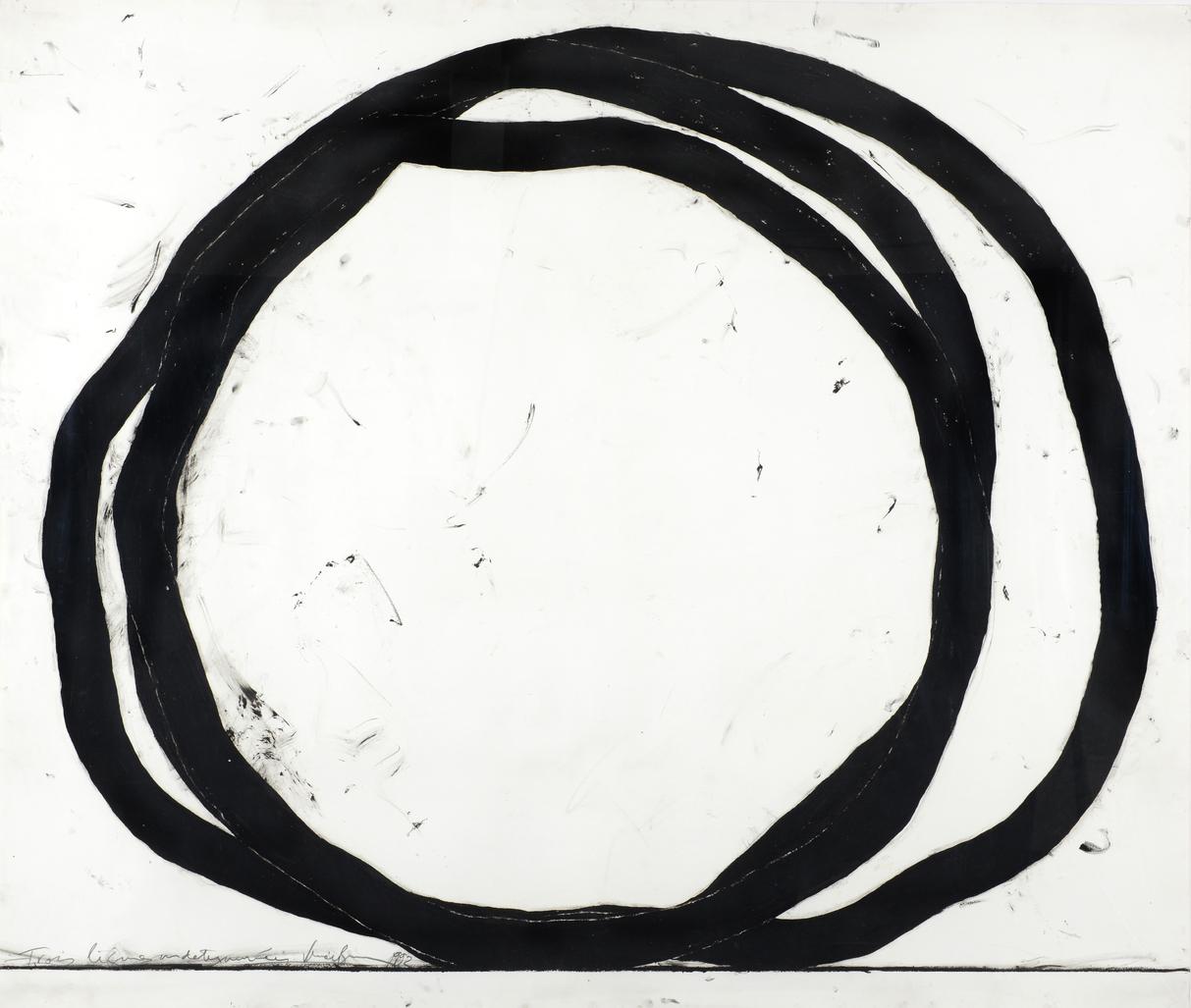 Trois Lignes Indeterminées by Venet Bernar