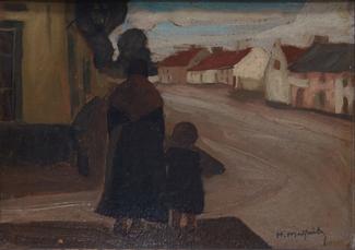 Vrouw met kind by Malfait Hubert