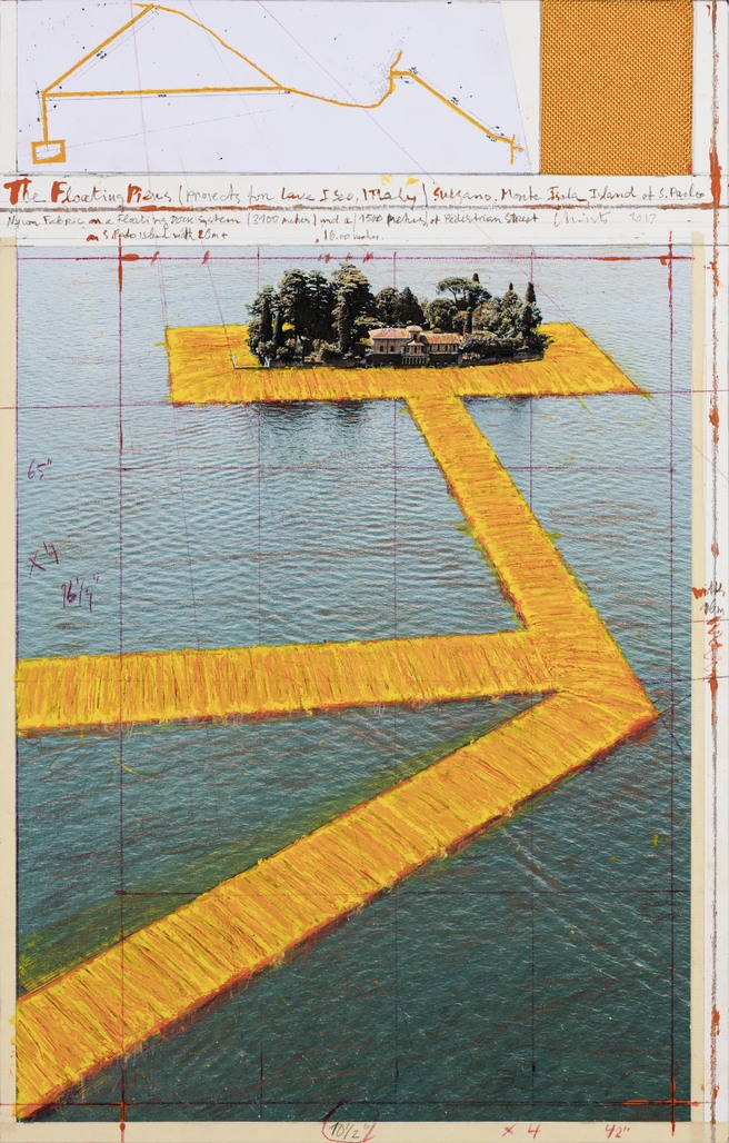 The Floating Piers (Project for Lake Iseo, Italy) by Christo