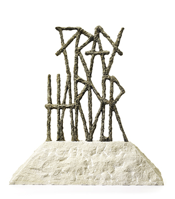Pray Harder on Portuguese Limestone by Van Saksen-coburg Delphine
