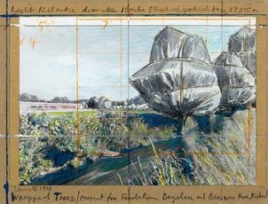 Wrapped Trees (project for Fondation Beyeler and Berower Park, Riehen)  by Christo