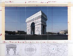 L' Arc de Triomphe, Wrapped (Project for Paris) Place de l'Etoile - Charles de Gaulle by Christo