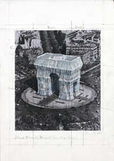 L' Arc de Triumph, Wrapped (Project for Paris) by Christo