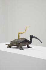 Golden Cord Schildpad met ibiskop en hoorn by Vanmechelen Koen