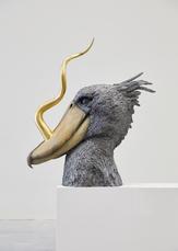 Golden Cord Shoebill head by Vanmechelen Koen