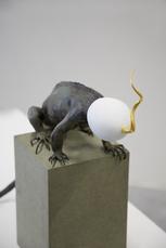 Golden Cord Iguana with egg by Vanmechelen Koen
