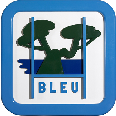 Panneau de signalisation bleu   by Gilli Claude