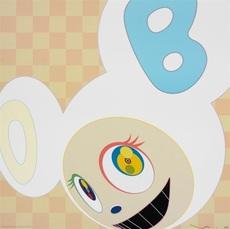 And then (Ichimatsu pattern) by Murakami Takashi