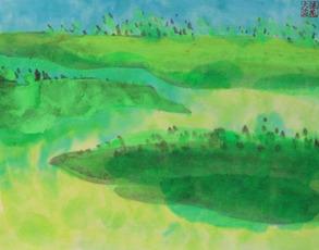 Greeny Heath by Ting Walasse