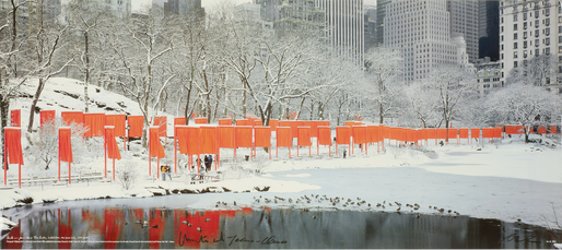Christo and Jeanne-Claude The Gates, Central Park, New York City, 2005 by Volz Wolfgang