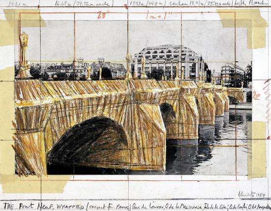 Christo Pompidou paris