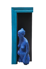 Blue Girl in Black Doorway by Segal George