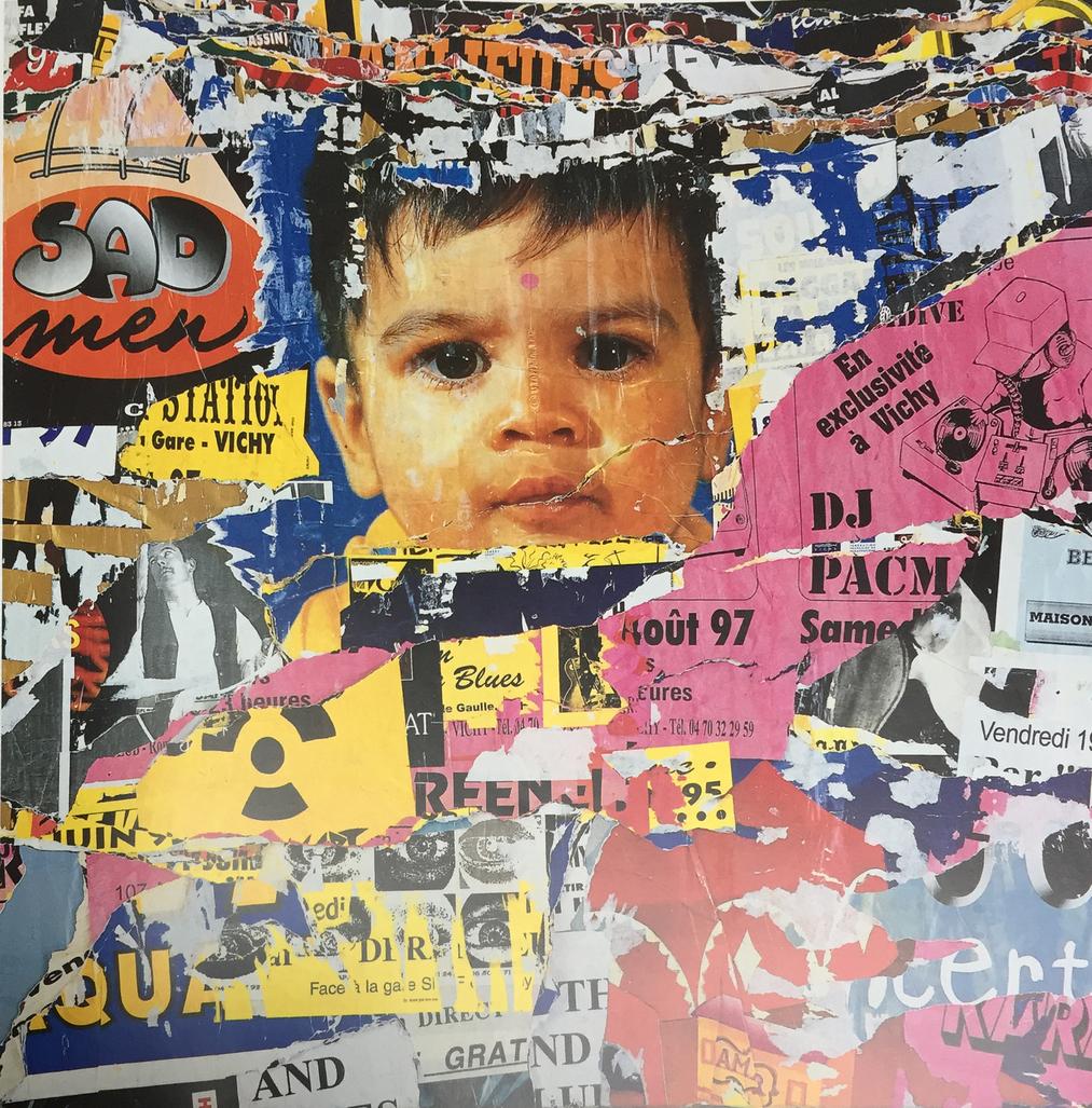 No one is innocent, 3ème couche bis rue Lucas Vichy, 9 février 1998 by Villeglé Jacques