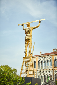 The man who measures the clouds (monument to the measure of the immeasurable)  by Fabre Jan