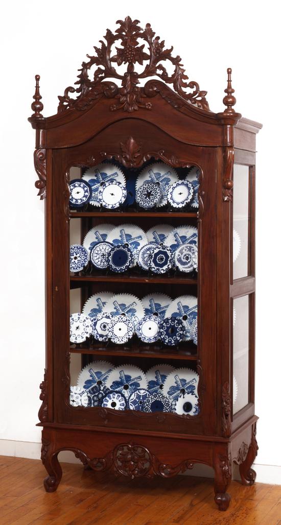 Cabinet with 46 Sawblades by Delvoye Wim