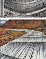 Over The River,  Project For Arkansas River, State of Colorado # 141 by Christo