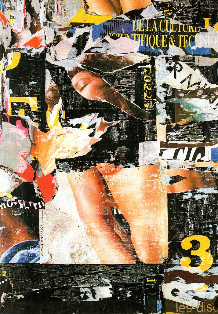 Ivry - la - Culture 27 novembre 1989 by Villeglé Jacques