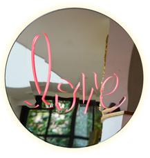 Glowing Love -mirror by Van Saksen-Coburg Delphine