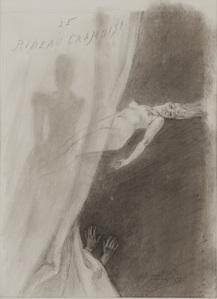 Le rideau cramoisi by Rops Felicien