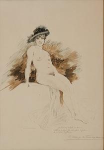 Première étude pour la Foire aux amours by Rops Felicien