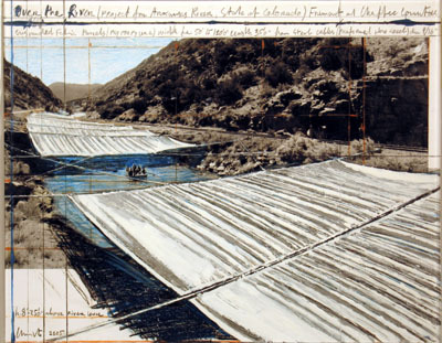 Over the River, (project for Arkansas river, state of Colorado) by Christo