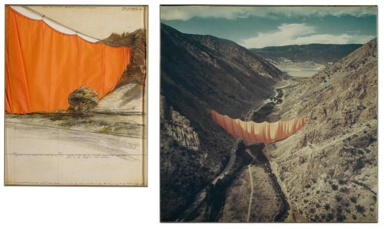 Valley Curtain (Project for Colorado) by Christo