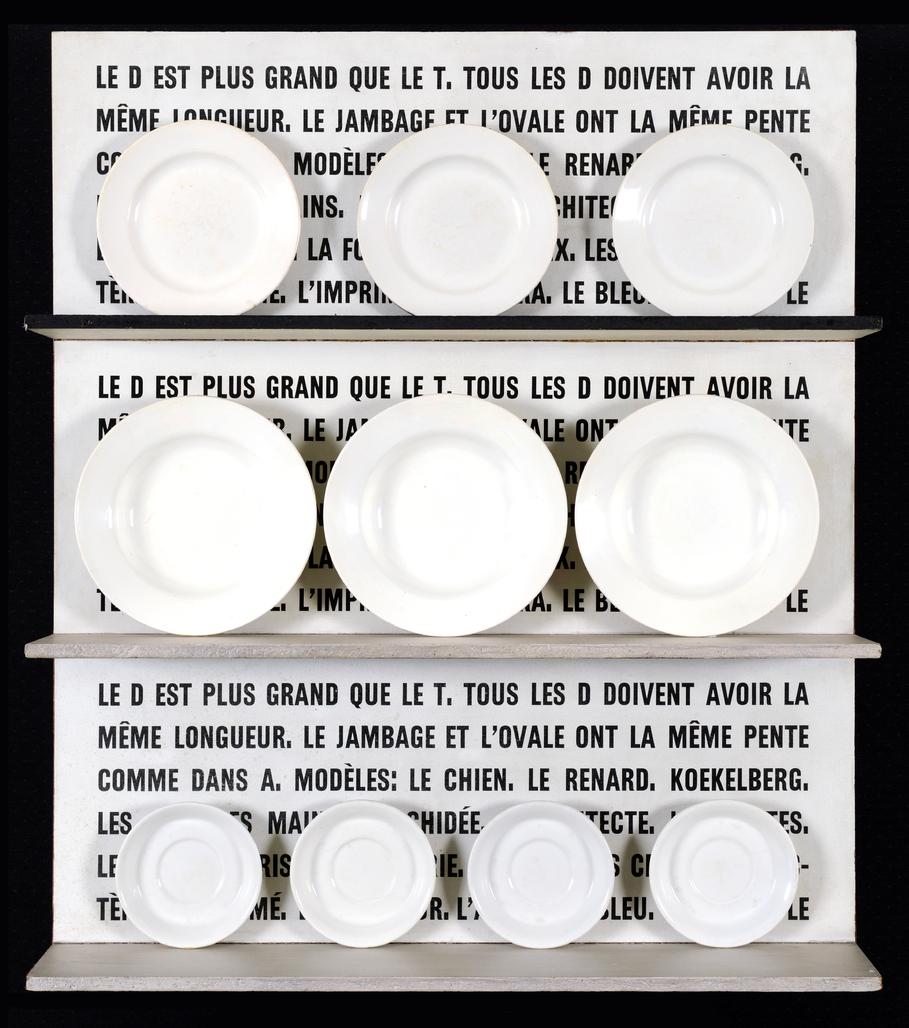 Le D est plus grand que le T ... (assiettes) by Broodthaers Marcel
