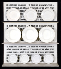 Le D est plus grand que le T (assiettes) by Broodthaers Marcel