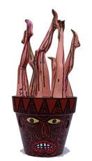Le pot de jambes en bouquet de pieds et de mollets  by Combas Robert
