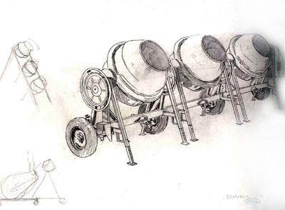 Studies for Super Cloaca Study # 132 by Delvoye Wim