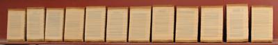 Horizontaal versneden boeken, 2003  A.15.11.03   1/12 - 12/12 by Denmark
