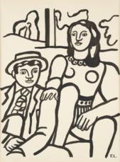 Les deux amoureux by Leger Fernand