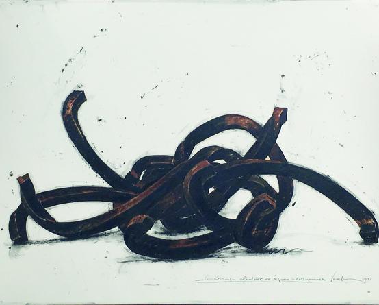 Bernar Venet - Drawings: Combinaison Aléatoires de lignes indeterminées