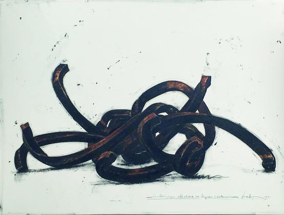 Bernar Venet - Drawings: Combinaison Aléatoire de lignes indeterminées