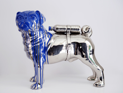 Cloned Bulldog with pet by Sweetlove William